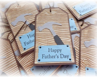 Fathers Day - Woodworking - Repairman - Hammer - Gift/ Hang Tags (4)