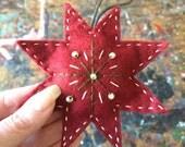 Red Felt Star Ornament