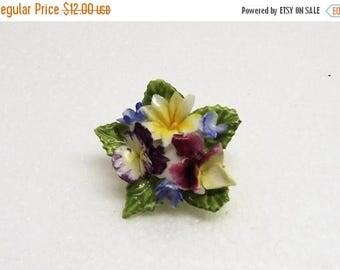 SpringSale17 Vintage Bone China Flowers Brooch made in England~Vintage Mixed Colorful Porcelain Flowers Brooch