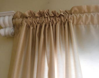 "84"" x 54"" champagne double lined curtains 4 panels"