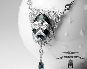 Harry Potter Hogwarts Rowena Ravenclaw's Diadem Inspired Necklace Swarovski