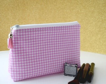 SALE - Toiletry Bag for Women - Makeup Pouch - Organizer Pouch - Gift for Her - Catchall Bag - Handmade by Zookaboo - Ready to Ship