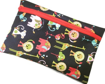 Reusable  Lunch Bag, Animal Print Lunch Bag, Laminated Cotton Lunch Bag
