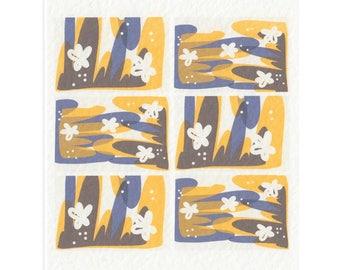 Scandinavian Print A5 Folk Print // Retro Pattern // 1960s Mid Century Modern art print