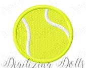Mini Tennis Ball Solid Fill Machine Embroidery Design 1x1 2x2 3x3 INSTANT DOWNLOAD