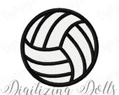 Volleyball Solid Fill Machine Embroidery Design 1x1 2x2 3x3 4x4 Volley Ball INSTANT DOWNLOAD