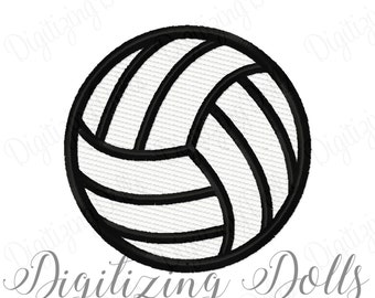 Volleyball Solid Fill Machine Embroidery Design Digital File 1x1 2x2 3x3 4x4 Volley Ball INSTANT DOWNLOAD