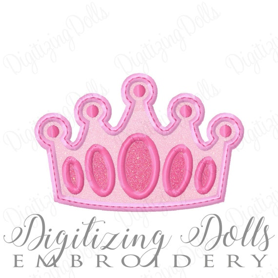 Crown Applique #7 Machine Embroidery Design 4x4 5x7 6x10 Princess Prince Queen King Royal Royalty  INSTANT DOWNLOAD