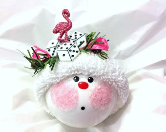 LAS VEGAS Souvenir Christmas Ornament Flamingo Dice Die Personalized Hand Painted Handmade Themed by Townsend Custom Gifts (F) - BR