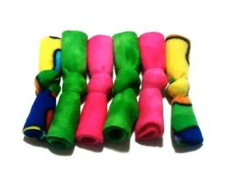 Catnip Fleece Bows 6 Pack