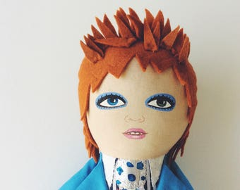 David Bowie - Life on Mars - handmade doll - 1970s - Ziggy Stardust - Starman - Bowie doll