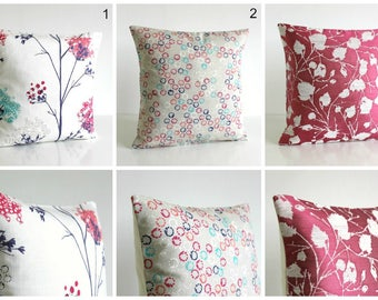 Floral Pillow Sham, Pillow Cover, Designer Pillow Cover, Decorative Cushion Cover, Pillow Sham - Hot Pink Collection