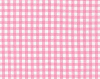 "Robert Kaufman - Carolina 1/8"" Gingham in Candy Pink P-5689-15 pink white checkered - cotton sewing quilting fabric - choose your cut"