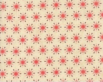Berry Merry by BasicGrey - Snowflake in Cream-Scarlet (30475-13) - Moda - 1 Yard