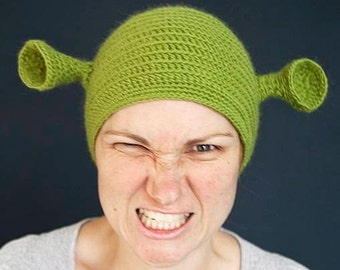 Adult female size Shrek hat ( ready for shipping ).