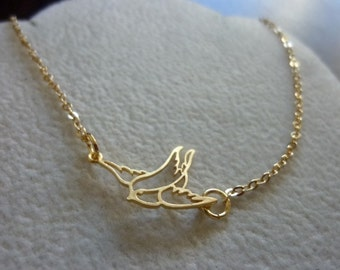 40% OFF SALE! - Dainty Delicate Bird Necklace, Minimalist