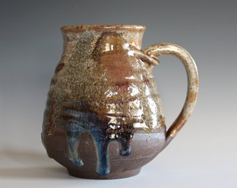 EXTRA LARGE 26 oz Coffee Mug, handthrown ceramic mug, stoneware pottery mug, unique coffee mug