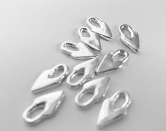 NEW***Primitive Charm Heart-Sterling Silver plated (set of 2)
