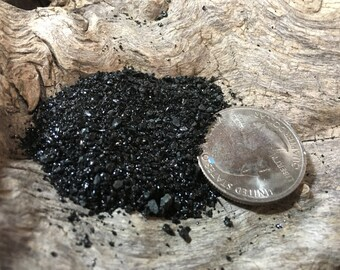 Black Lava Sand for Coastal Home Decor, displays, candles and filler Terrariums Fairy Garden Vase