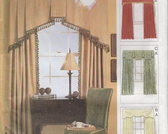 Drapery Pattern Unlined Drapes Cornice Panel Window Treatment Curtain Valance Uncut Vogue 7756