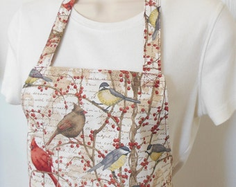 Full Apron - Pretty Birds