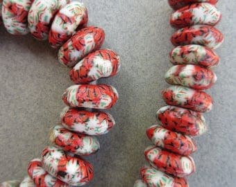 African Marbled Beads