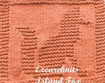 Knitting Cloth Pattern - ISLAND FOX