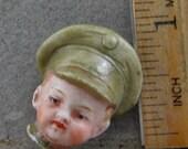 Vintage Antique Excavated Miniature German Painted Porcelain Doll Head Oscarcrow