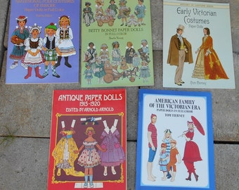 Paper Dolls  (5 Books)  - Brand New!