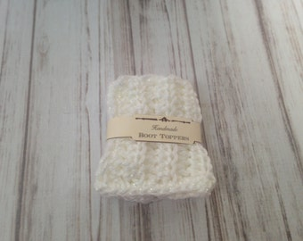 White Girls Boot Cuff, Ready to ship Crochet boot toppers, Accessories, crochet boot cuffs, gifts under 10, fall fashion, stocking stuffers