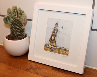 "Mini Hand-Signed Giclee in Frame - ""Sometimes More"""