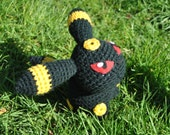 Umbreon Pokemon Inspired Pokedoll Amigurumi - Old School Style, Last One!