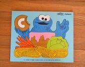 Playskool Sesame Street Cookie Monster Puzzle 1973 315-4