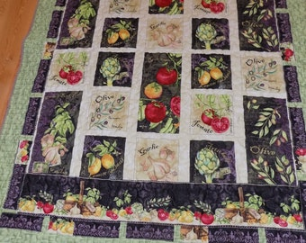 Vegetable Garden lap quilt 55 x 72