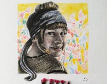 custom portrait,unique gifts,illustration,personalized home decor,pencil drawing,family portrait illustration,original art,hand drawn art
