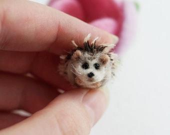 Tiny needle felted hedgehog