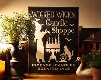 Wicked Wicks Candle Shoppe Wall Sign
