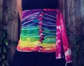 Medium/Large - Belly Binding Wrap - Rainbow - Ready to Ship!