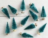 3 Inch Sisal Trees - One Dozen Miniature Bottle Brush Tree Christmas Craft Embellishments