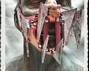 Leather mask  - Steel Jaws -