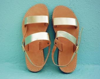Sandals, Gold Sandals, Leather Sandals, Wedding Sandals