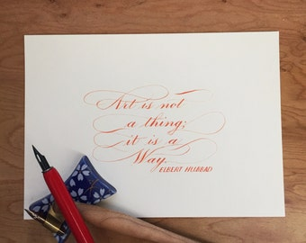 Custom Quote Calligraphy— 5 x 7 inches