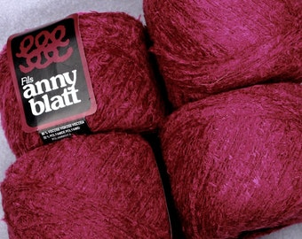 Rayon Yarn Anny Blatt 50g weight Yummy Raspberry Color Veloute lace weight