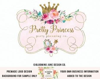 Crown Logo Design Party Logo Design Photography Logo Design Graphic Design Photographers Logo Design Elegant Logo Design Premade Logo