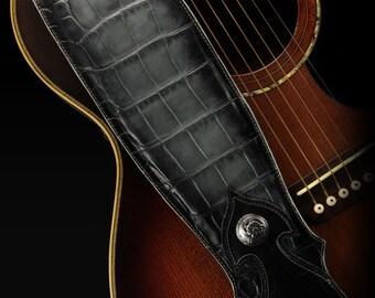 Custom Leather Guitar Strap:  Imperial Shadowfall Guitar Strap
