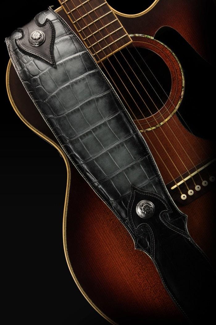 custom leather guitar strap imperial shadowfall guitar strap. Black Bedroom Furniture Sets. Home Design Ideas