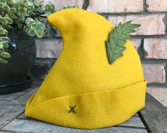 Peter Pan Hat with Felt Feather
