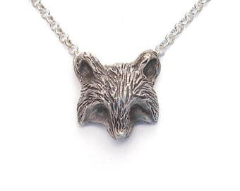 Hand Fabricated Raccoon Necklace in Sterling Silver, Raccoon Jewelry, Raccoon Charm, woodland necklace, animal necklace, handmade silver