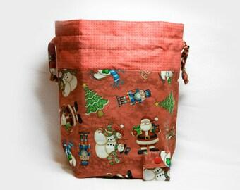 "New! ""Christmas Cheer"" Large Drawstring Project Bag"