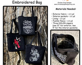 Make It Your Own: Embroidered Bag Pattern PDF Digital Copy (Tutorial Included!)
